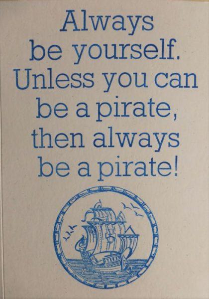 Letterpress Card – Pirate