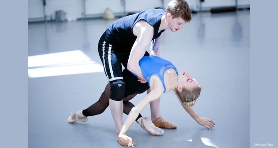 Andrew Peasgood and Constance Devernay in rehearsals