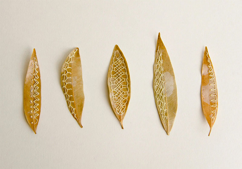 Hillary Fayle's Embroidered Leaves