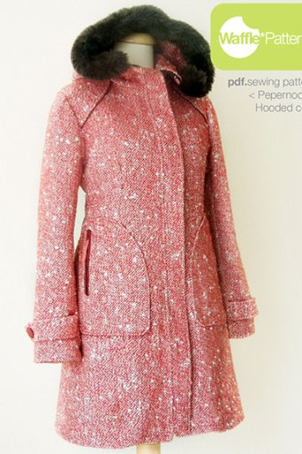 Peppernoot Coat by Waffle Patterns
