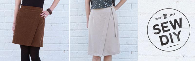 Nita Wrap Skirt by Sew DIY