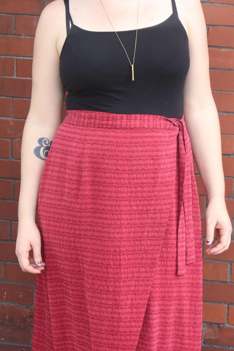 Sew DIY maxi Nita Wrap Skirt by Helens Closet