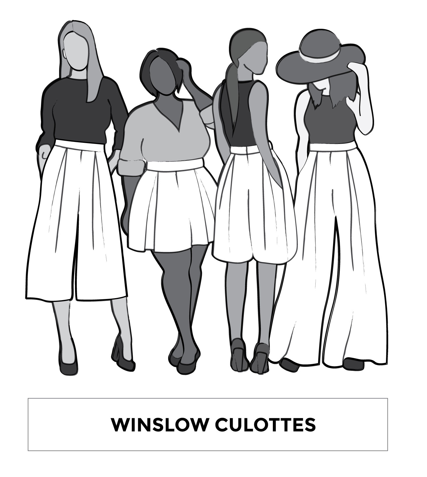 Winslow Culottes Sewing Pattern by Helen's Closet