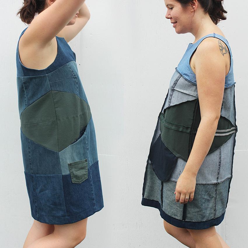 Helen's Closet Refashioners 2016 Denim Patchwork Dress