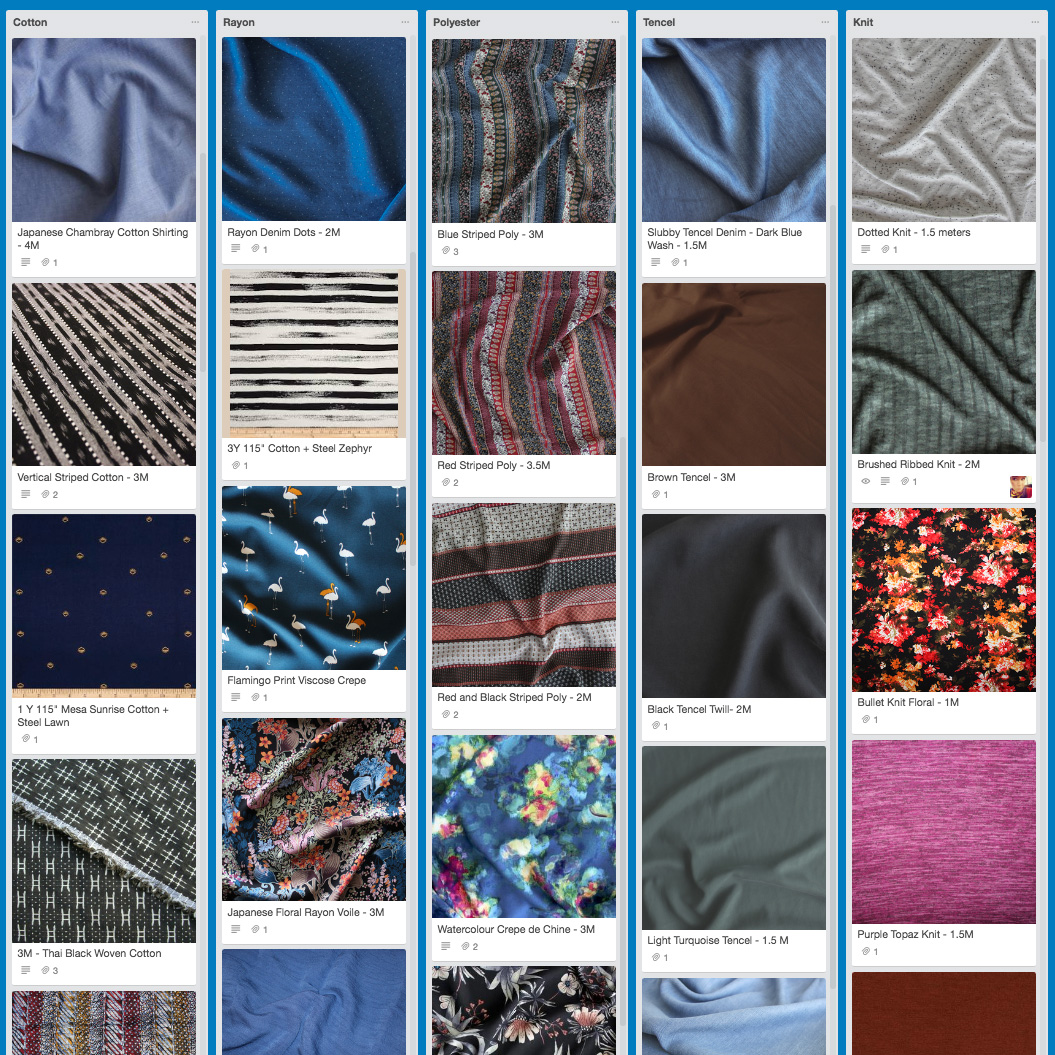 Trello Fabric Stash