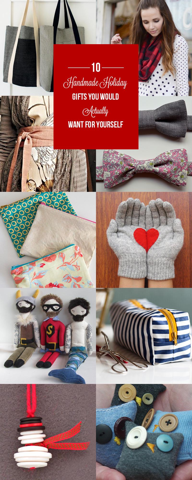 Ten Handmade Holiday DIY Gifts