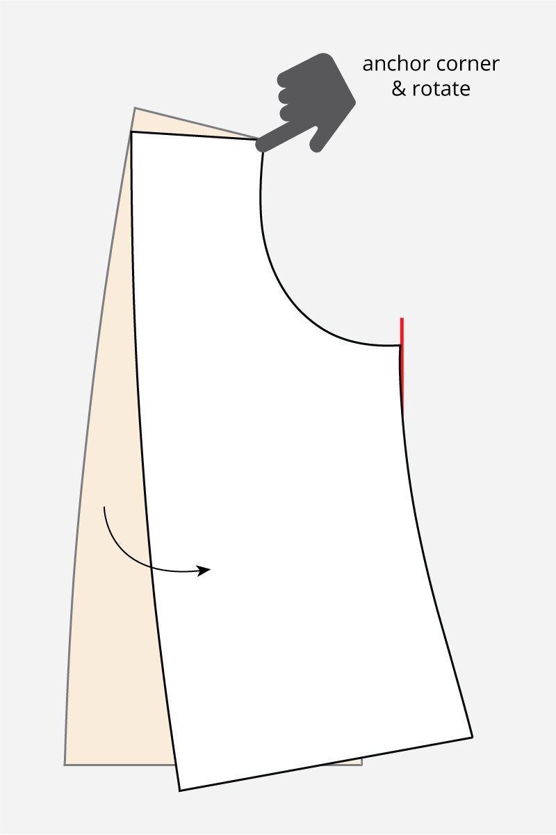 full bust adjustment no darts