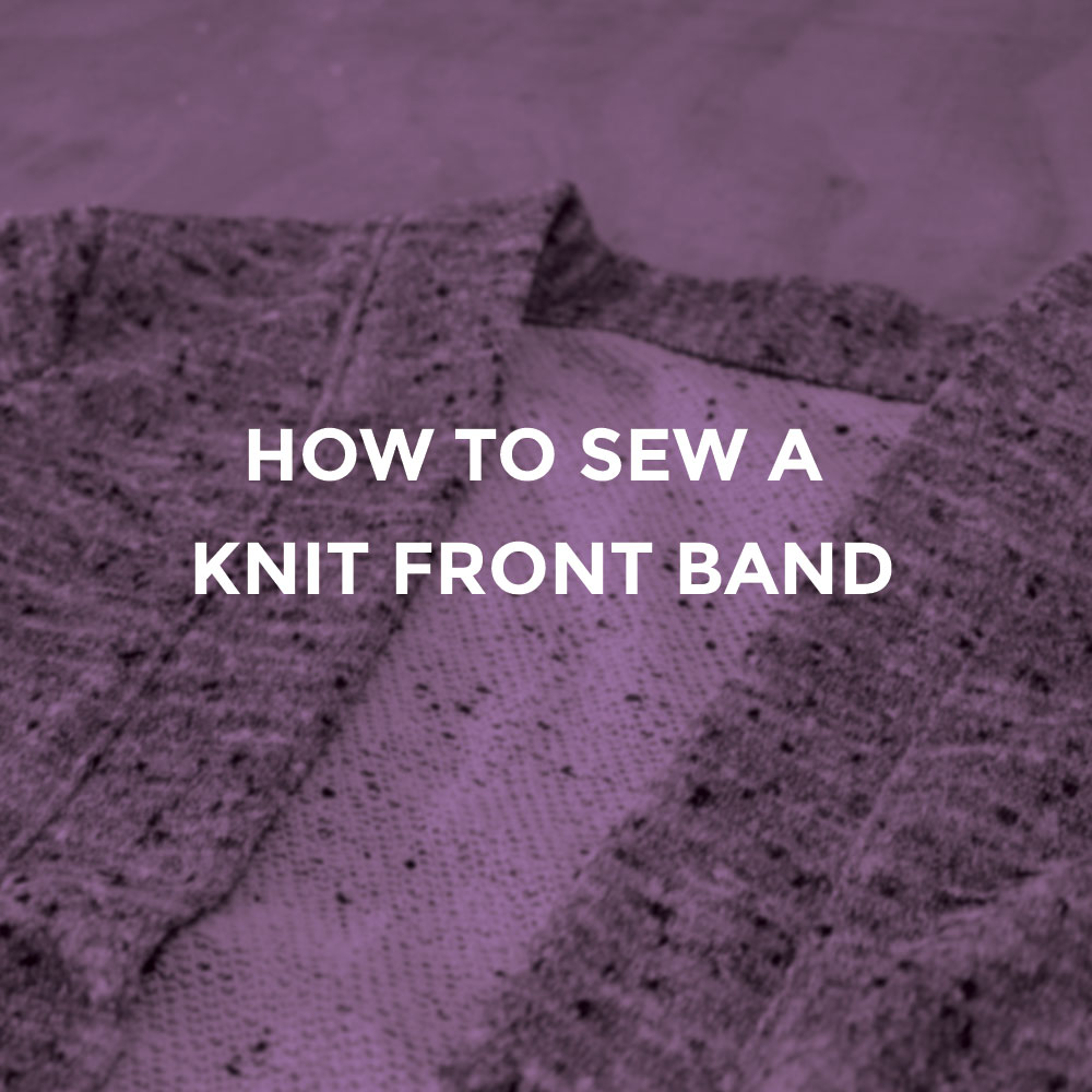 Sewing a front band