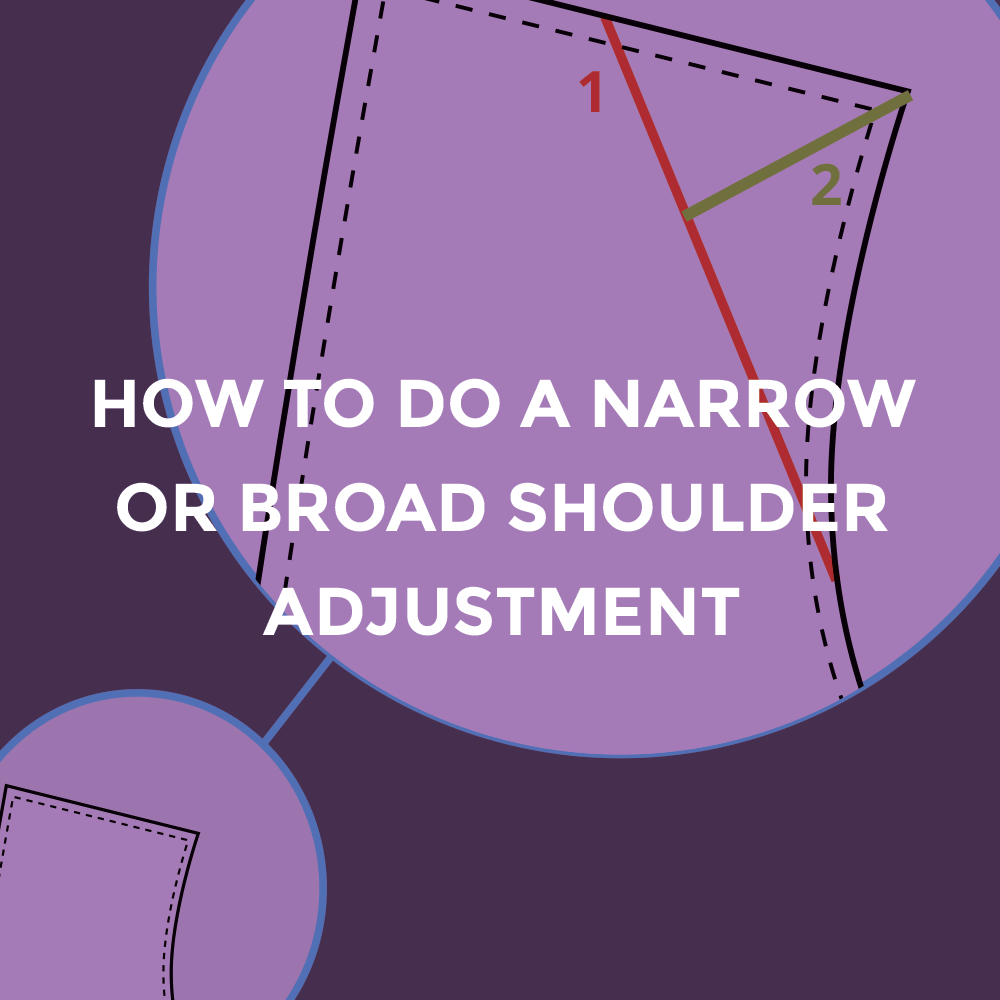 How to do a narrow or broad shoulder adjustment