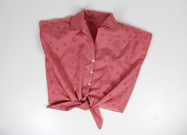 Tie Front Shirt Tutorials