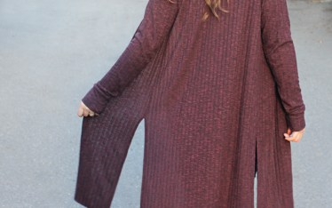 Blackwood Cardigan Split Hem