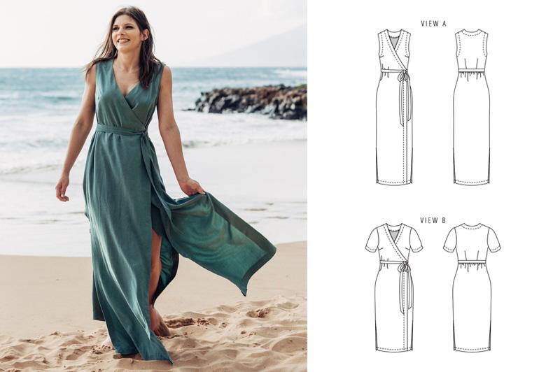 Maxi Wrap Dress Pattern
