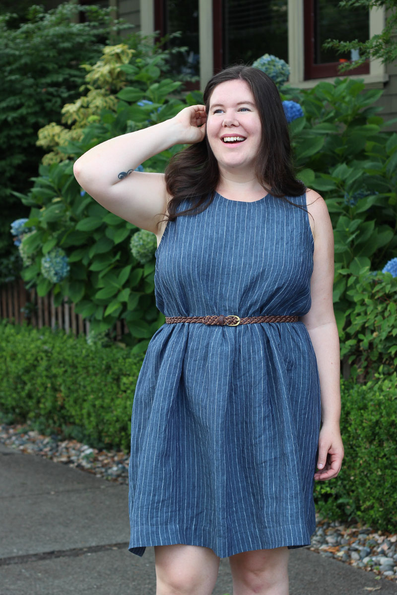Ashton Top Dress Hack with a Gathered Skirt