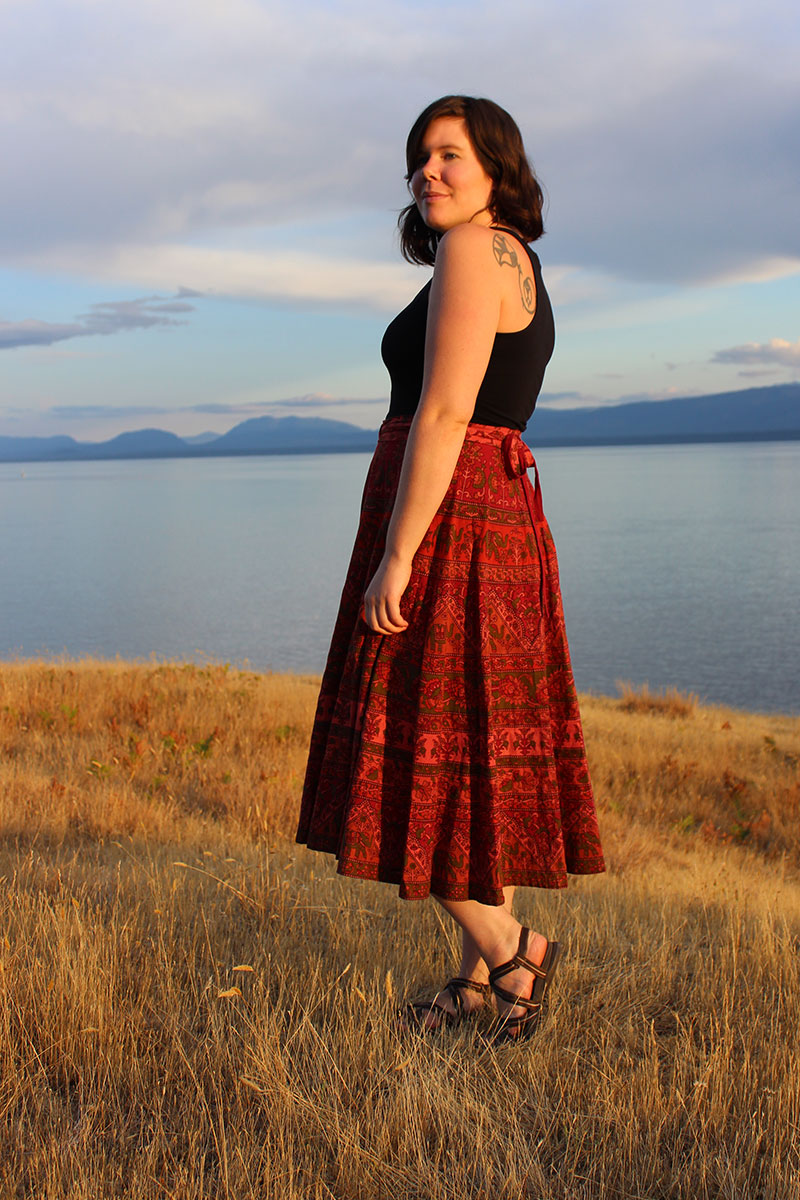 DIY circle skirt by Helen's Closet