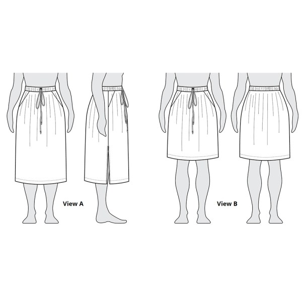 Donovan Skirt Flat Illustration