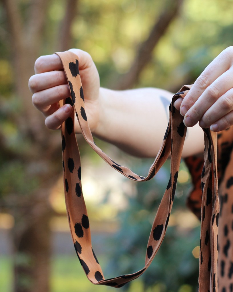 Ashton Top Butterfly Sleeve Dress Hack waist tie