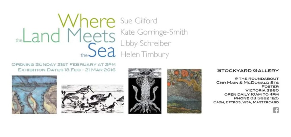 Where the Land Meets the Sea Exhibition Invitation