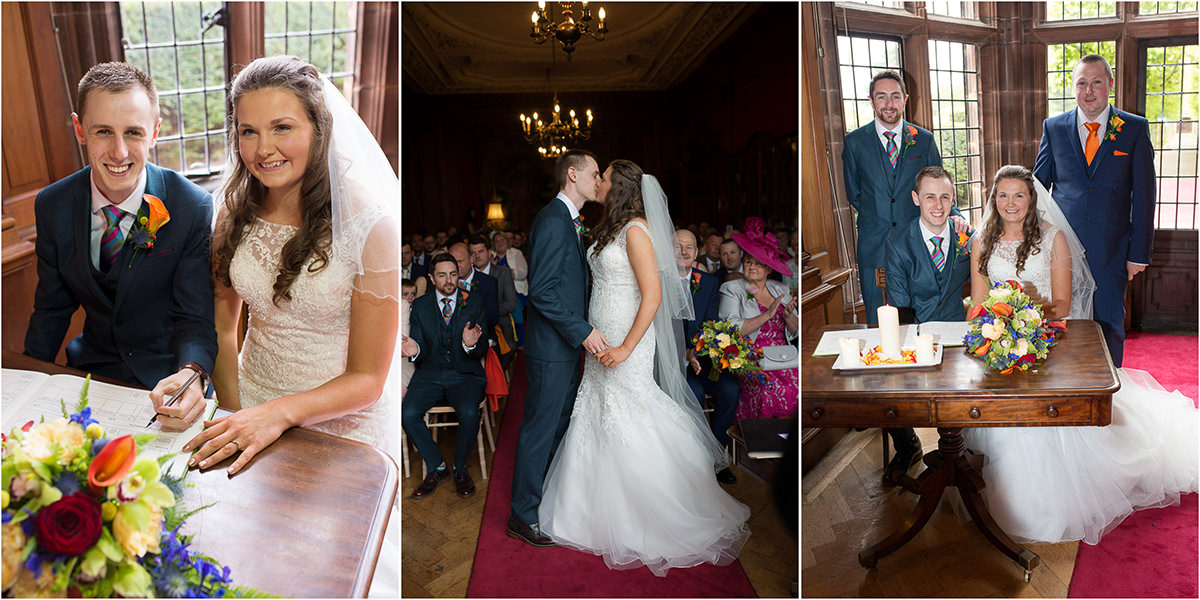 Thornton Manor First Kiss Thornton Manor Wedding Photography