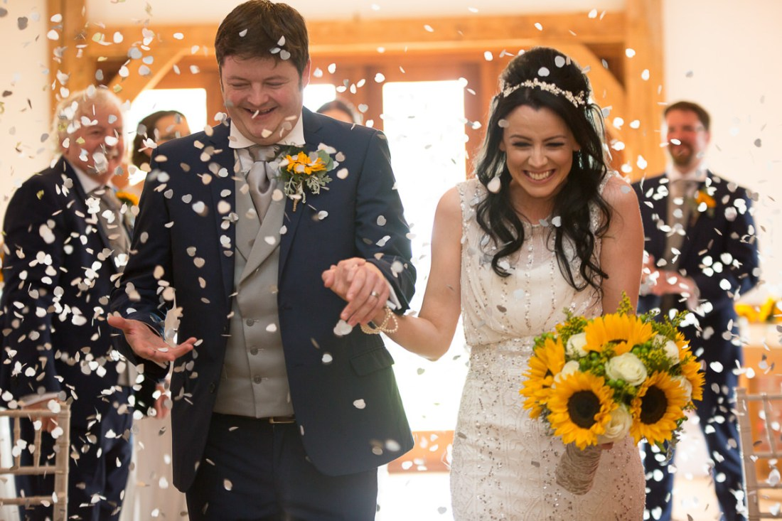 Sandhole Oak Barn Wedding Confetti