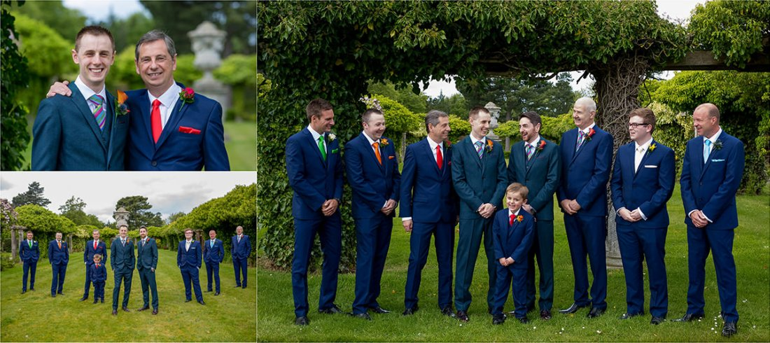 Thornton Manor Groom, colourful wedding