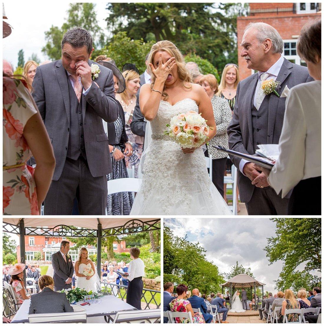Wedding Ceremony Tears Upper House Barlaston