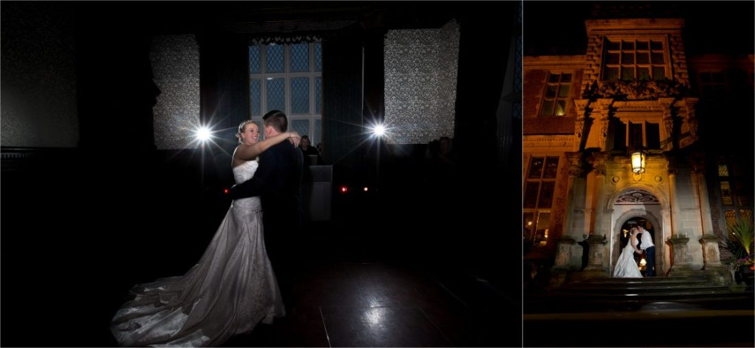 Crewe Hall Wedding Photography First Dance Crewe Hall After Dark