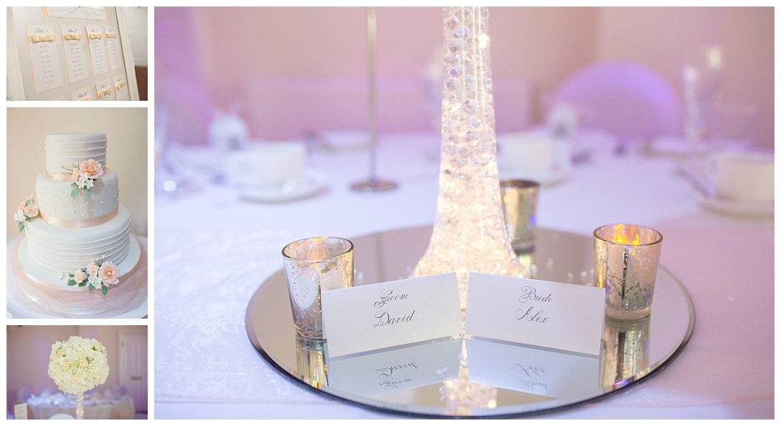 Wedding Reception Details at the Upper House Barlaston