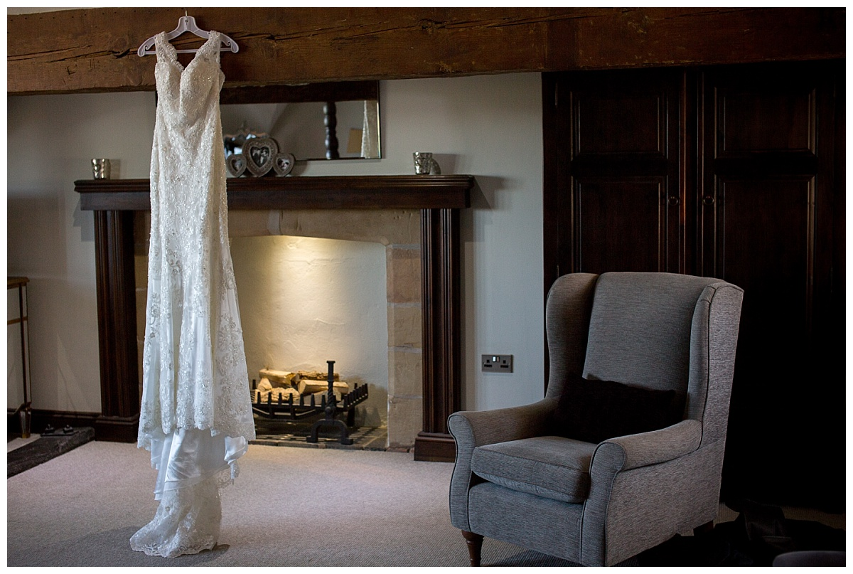 Wedding Dress by the Fire