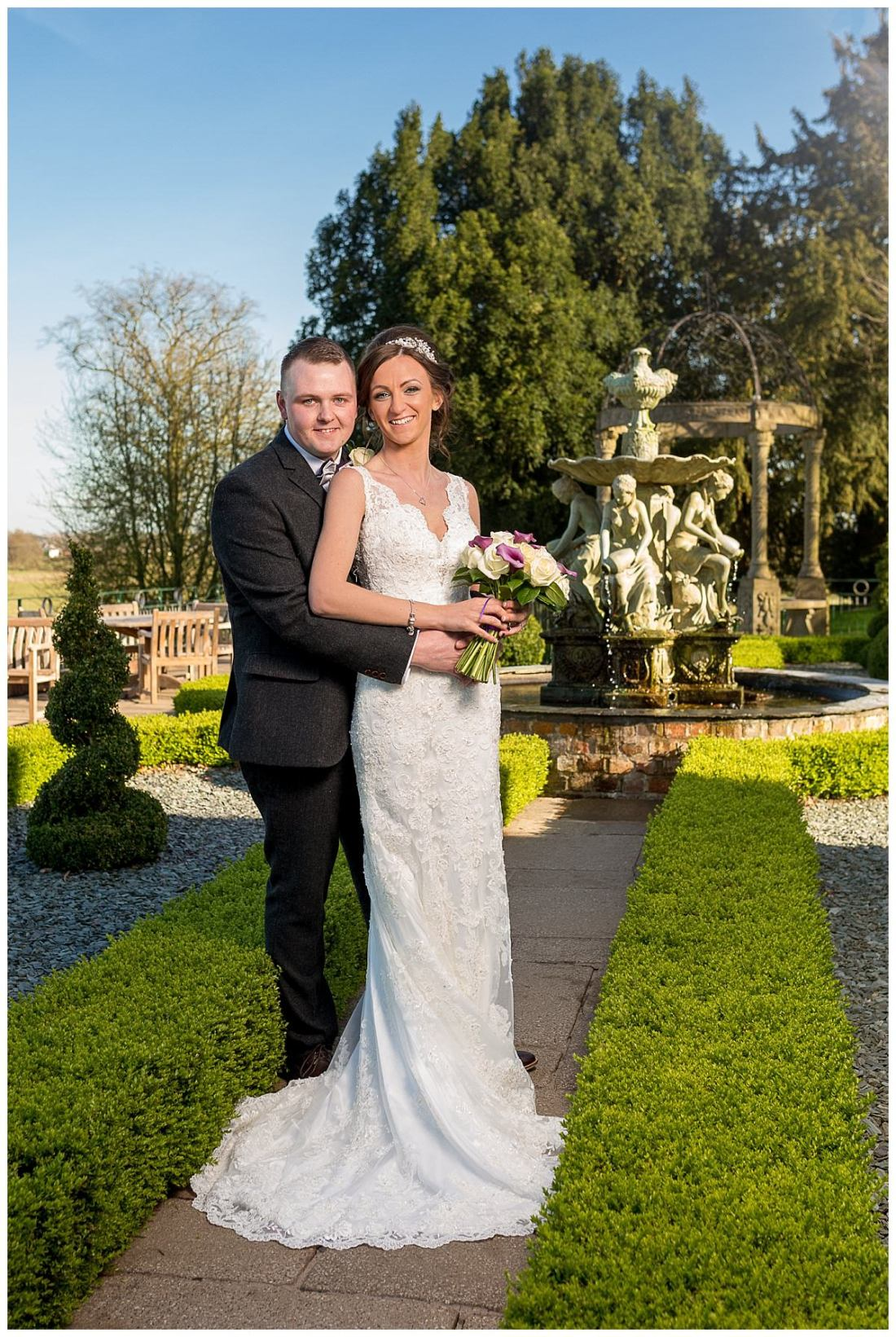 Bride and Groom at Weston Hall