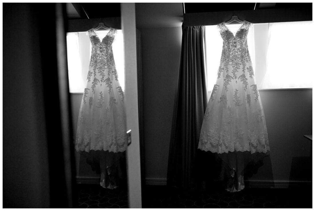 Wedding dress reflection