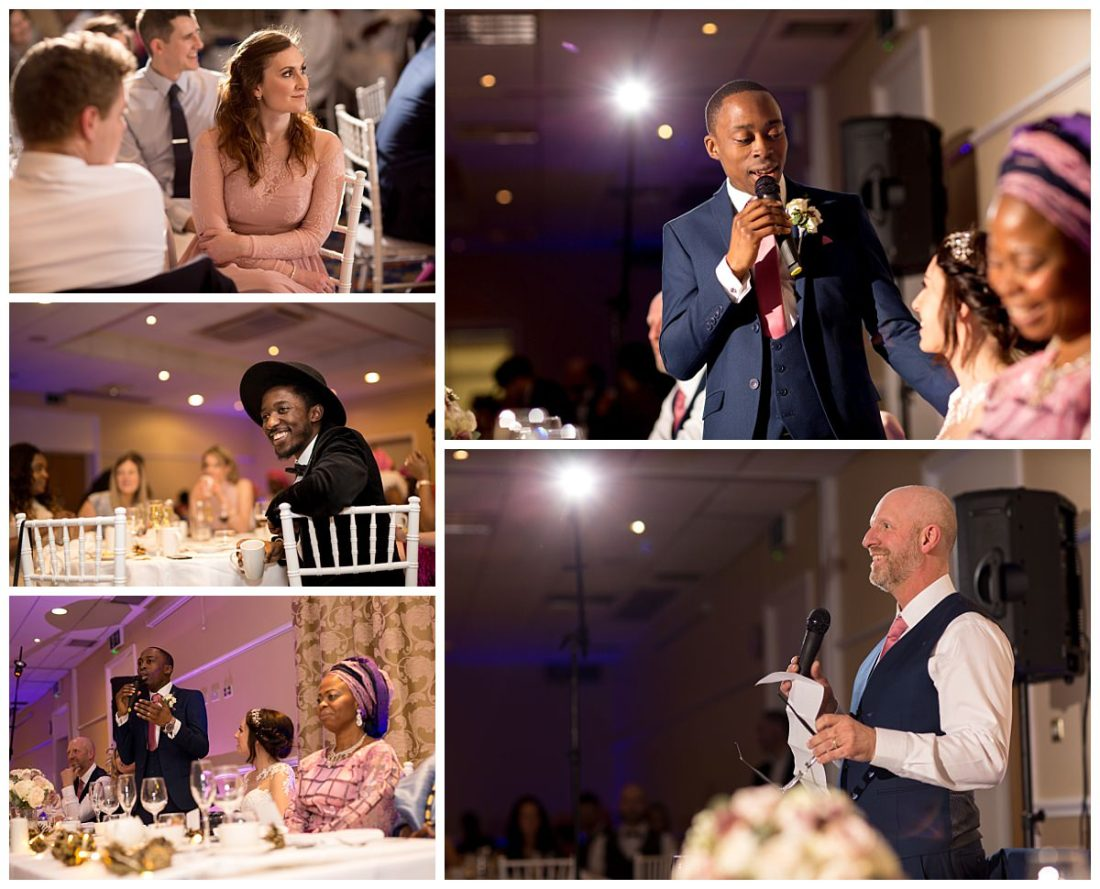 Wedding Speeches at Cranage Hall
