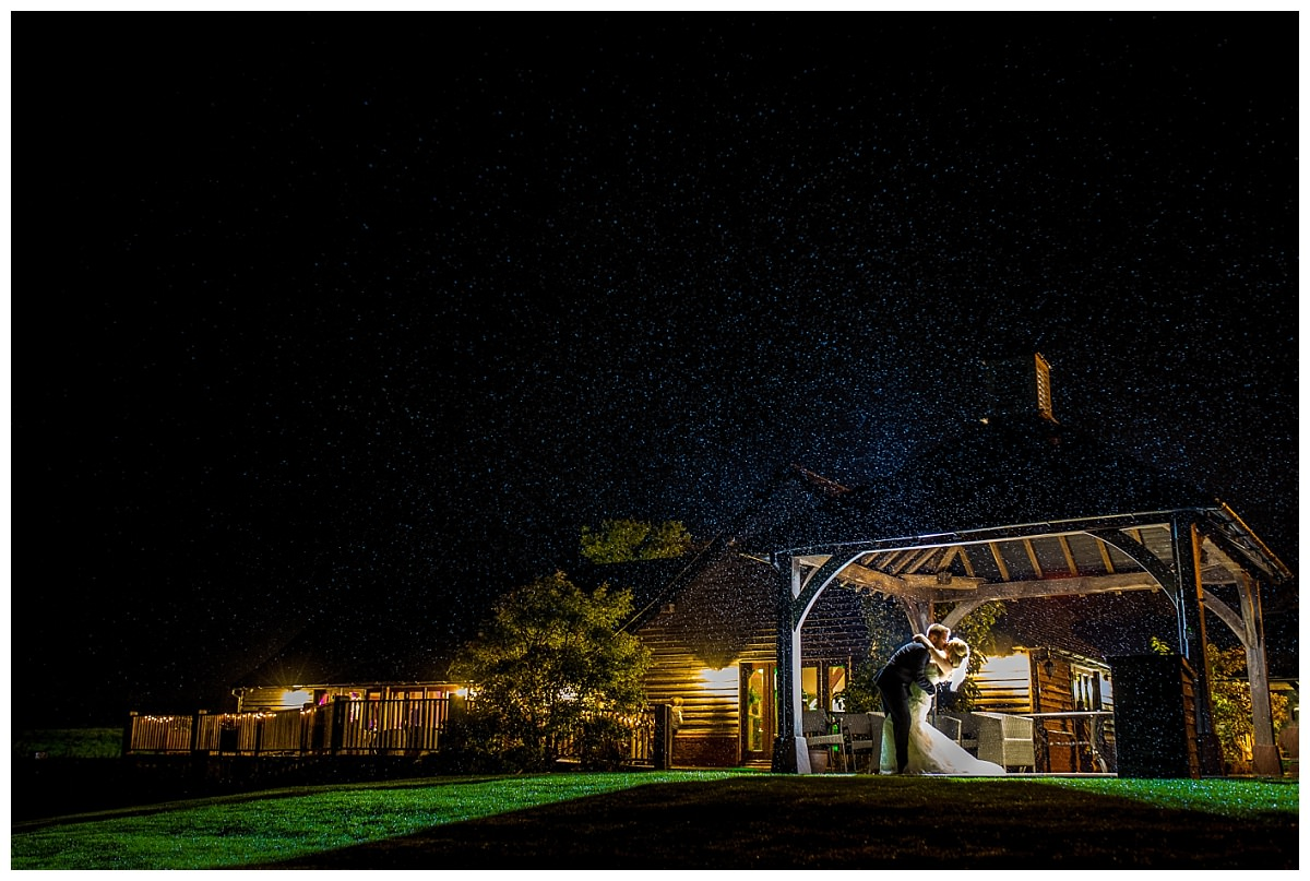 Sandhole Oak Barn after dark
