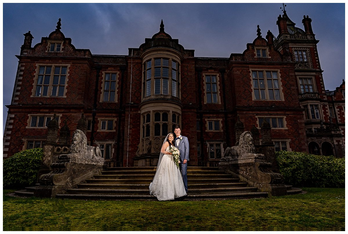 Bride and Groom at Crewe Hall