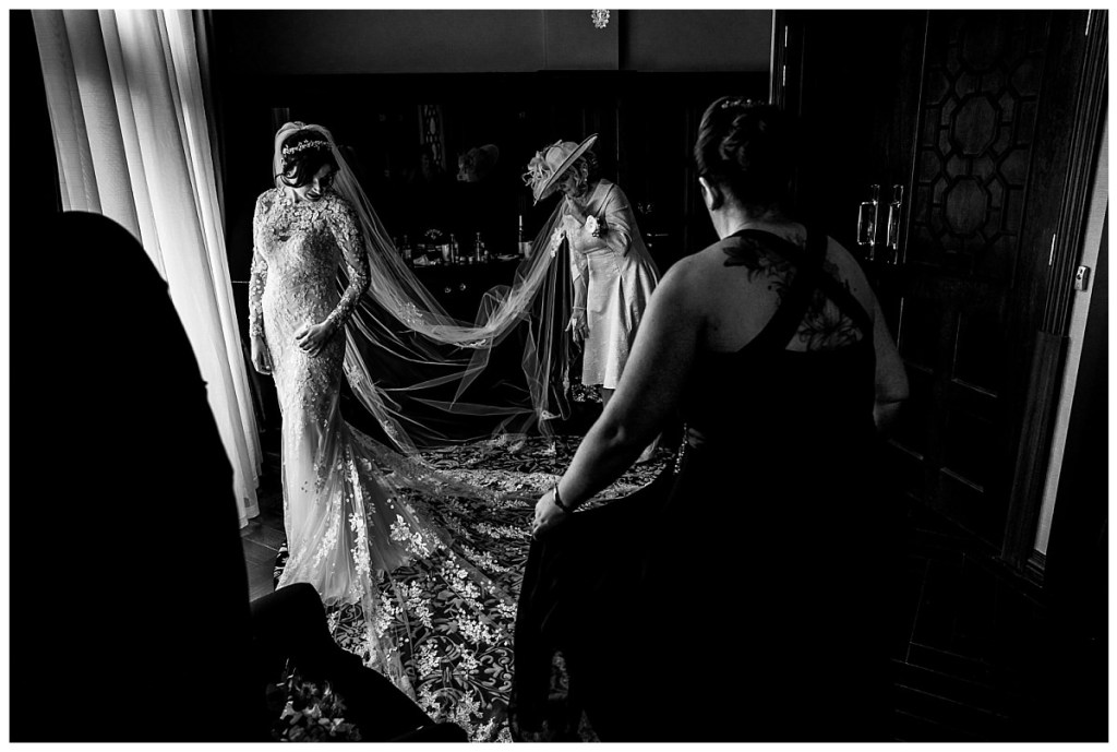 Bride getting ready at the DoubleTree Hilton in Liverpool