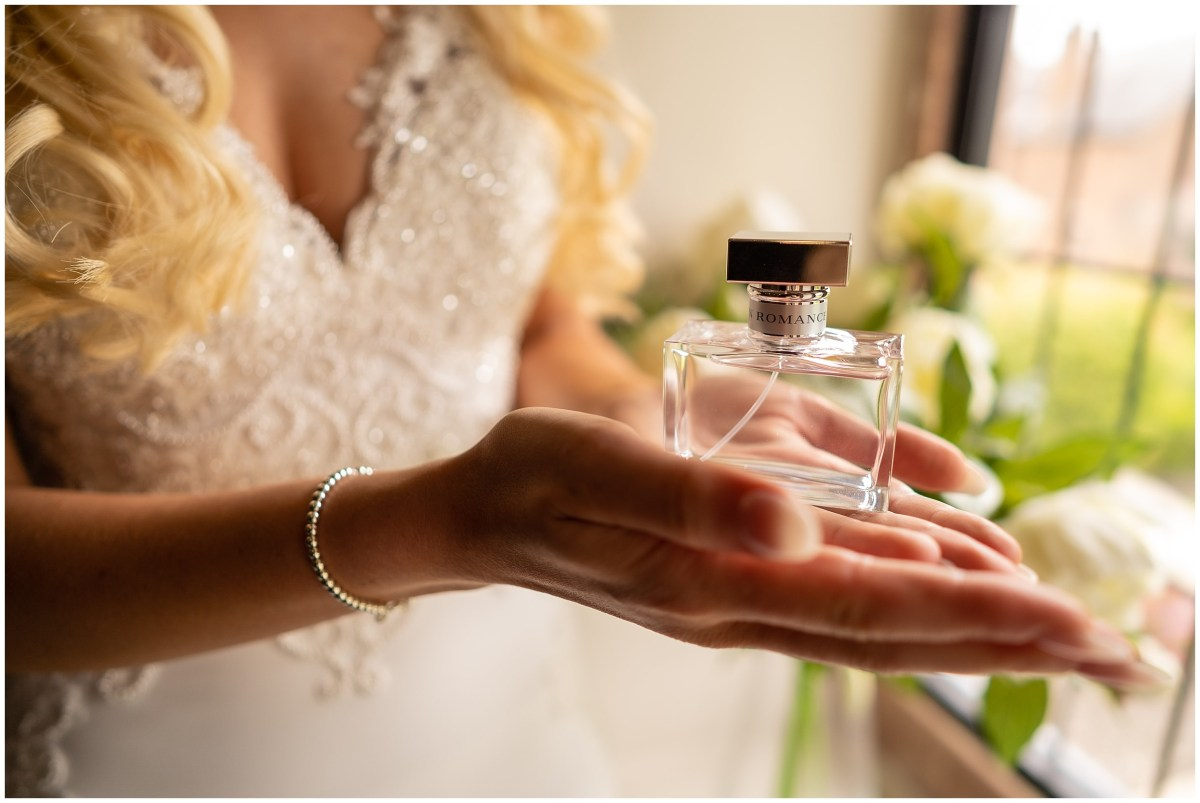 Wedding day perfume at Merrydale Manor