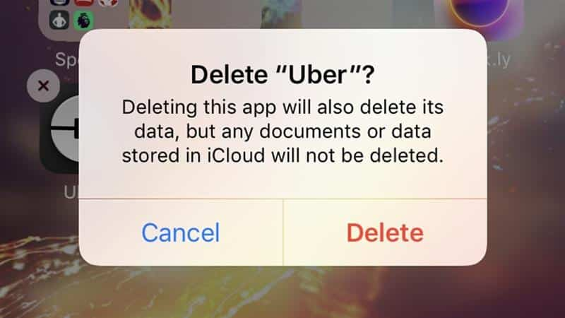 values delete uber