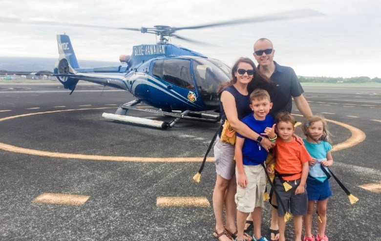 Helicopter tour with kids