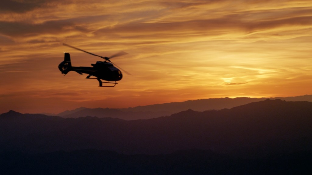 Grand Canyon helicopter tour at sunset
