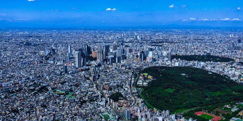 Shinjuku city in Tokyo