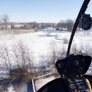 helikopter in sneeuw