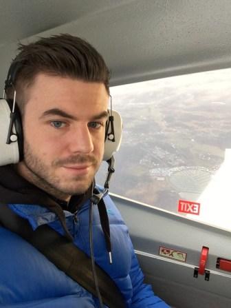 Timmie Johnsson åker med när Gabriel Lundell flyger.