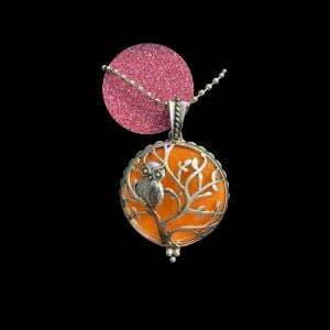 diffuser ketting uit oranje roze