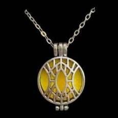 diffuser ketting ornamental geel