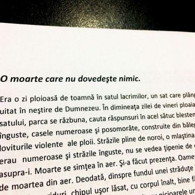 Fragment din textul citit de Cătălin Ciobanu.