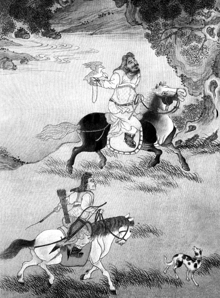 Gingis-Han la vânătoare cu şoimi