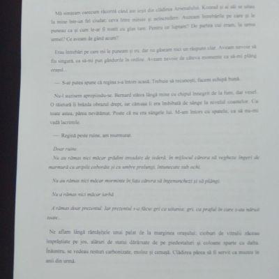 Prima pagină a fragmentului citit.