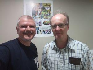 Cu scriitorul Frank Roger dupa interviul pentru Galaxia Imaginarului.
