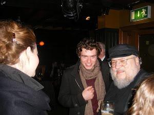 Fotografie din 2009 de la prima întâlnire a lui Gedorge R. R. Martin cu fanii la Belfast. Foto: Adam Whitehead