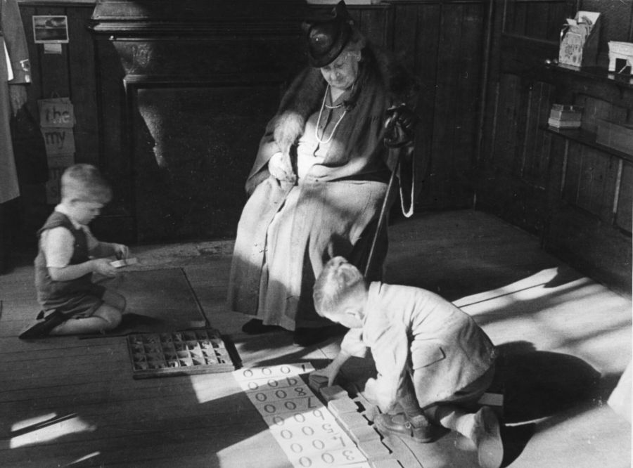 Maria Montessori, education revolutionary, in 1946. Her ideas are still not widely accepted.