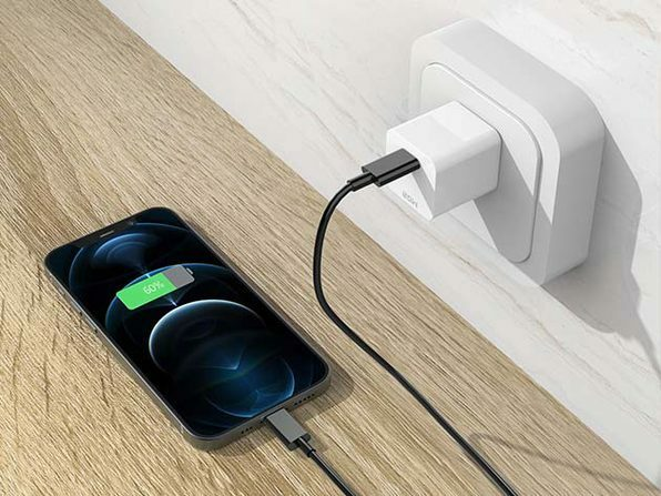 The 20W power adapter is ideal for iPhone 12.